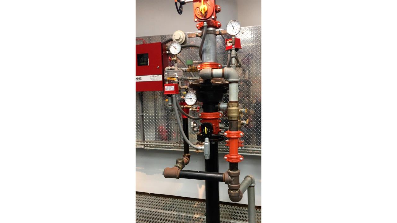 Fire Sprinkler training, Wet System, Viking