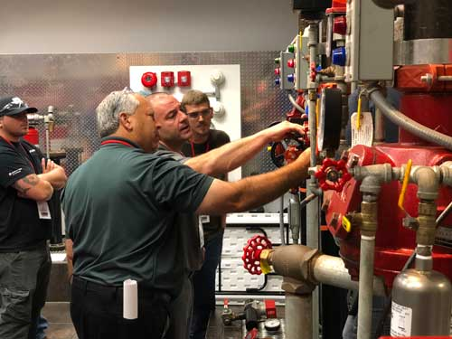 Fire Sprinkler training, Viking