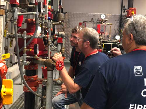 Fire Sprinkler training, Wet System, Viking