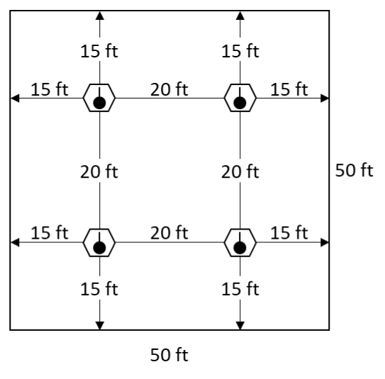 Fire Alarm Detector Layout Example