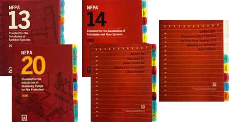 NFPA 13 2016 14 2016 20 2016 22 2013 291 2016