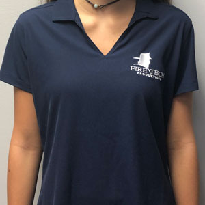 Fire Tech Women's Blue Shirt Front